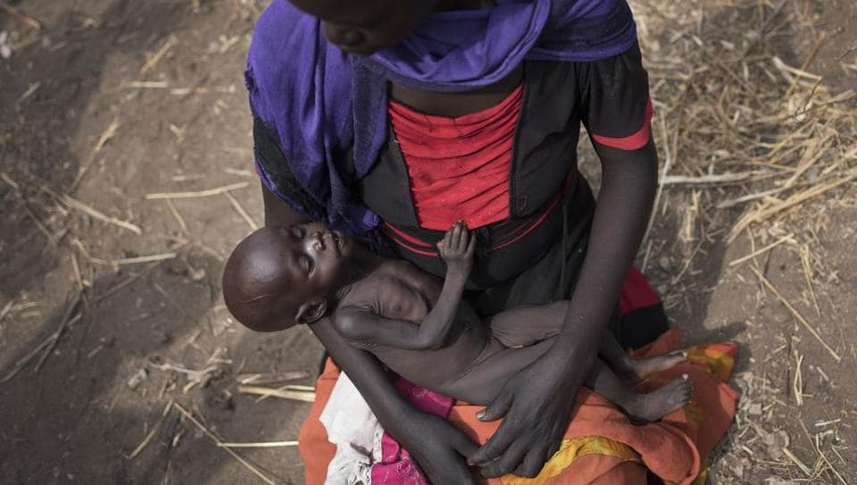 About 24 million people could starve across South Sudan, Nigeria, Yemen and Somalia as a result of drought or conflict. In South Sudan, conflict has driven millions from their homes into camps or across the border into Ethiopia. (AP)
