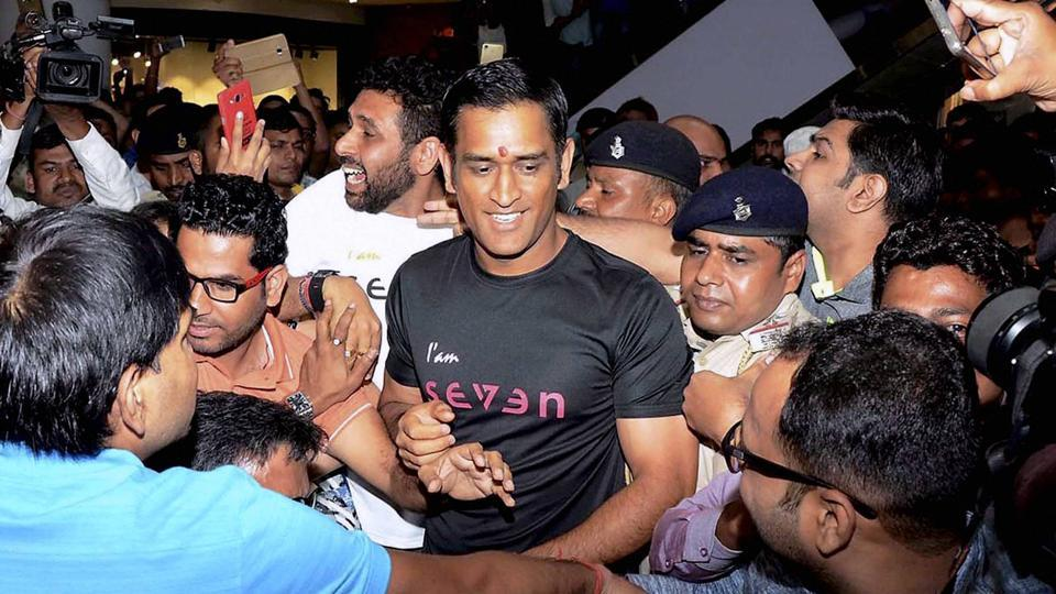 Mahendra Singh Dhoni at the inauguration of his Sports Store 'Seven' at Nucleus Mall in Ranchi recently. The former Indian cricket captain is facing conflict of interest issues in court