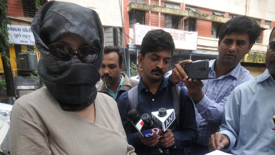 The complainant in the Rohit Tilak alleged rape case at the Vishrambaug police station.