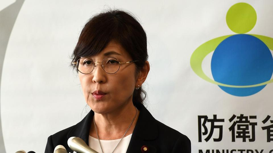 Japan's defence minister Tomomi Inada speaks during a press conference in Tokyo on July 28, 2017. Japan's scandal-hit defence chief announced her resignation.
