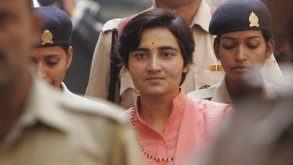 Sadhvi Pragya Singh Thakur was charged in the Malegaon bomb blast case. (HT File Photo)