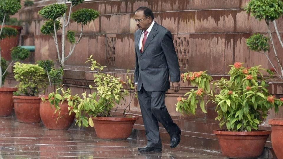 National security adviser Ajit Doval, seen in this file photo leaving Parliament House, told a meeting of BRICS security heads in Beijing that the five-nation grouping must show leadership on issues of regional and global importance, including countering terrorism.