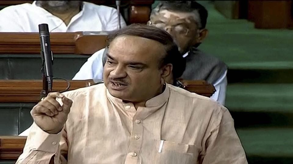 Parliamentary affairs minister Ananth Kumar speaks in the Lok Sabha in New Delhi on Thursday. (PTI Photo / TV grab)
