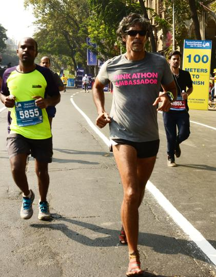 Milind Soman has been running marathons since 2004.