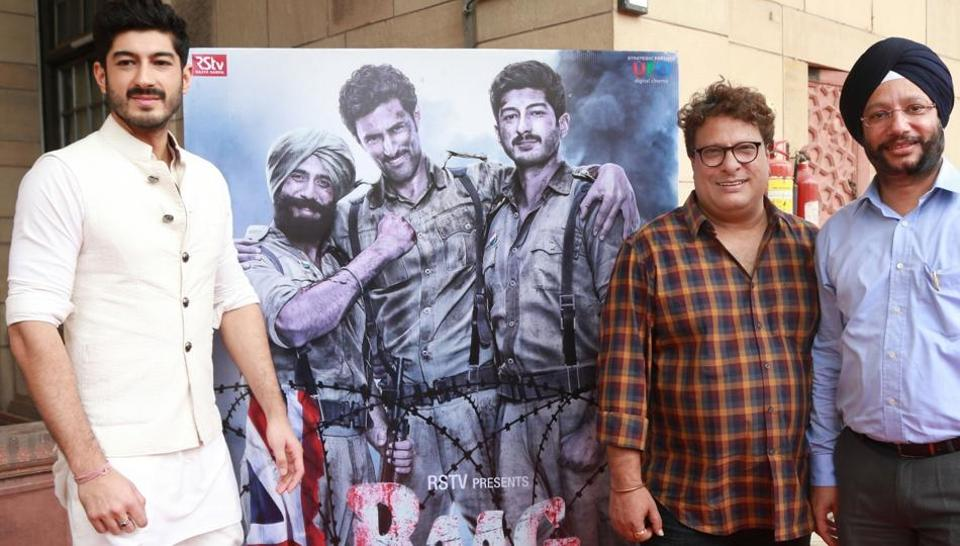 Tigmanshu Dhulia and Mohit Marwah during the trailer launch of Raag Desh in New Delhi.