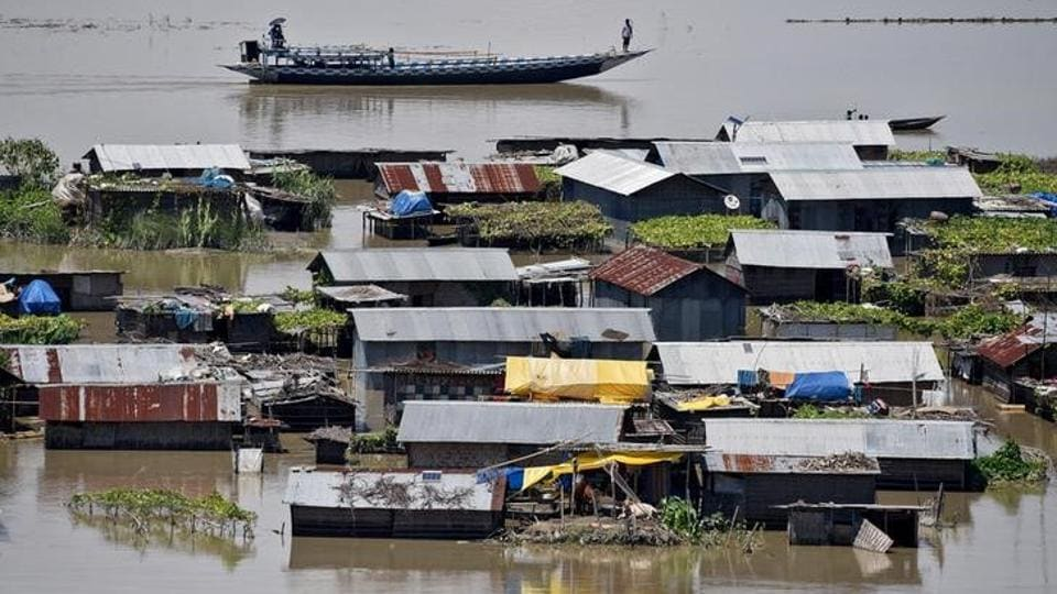 The flood situation in Assam improved substantially even as over 13,000 people across seven districts in the state were still affected. Altogether 79 people have lost their lives in flood-related incidents. (Anuwar Hazarika / Reuters)