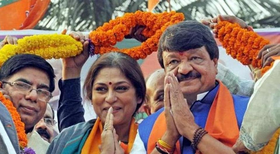 BJP Rajya Sabha MP Roopa Ganguly (middle) and national secretary Kailash Vijayvargiya (right) have been summoned by  CID in connection with the north Bengal baby trafficking case.
