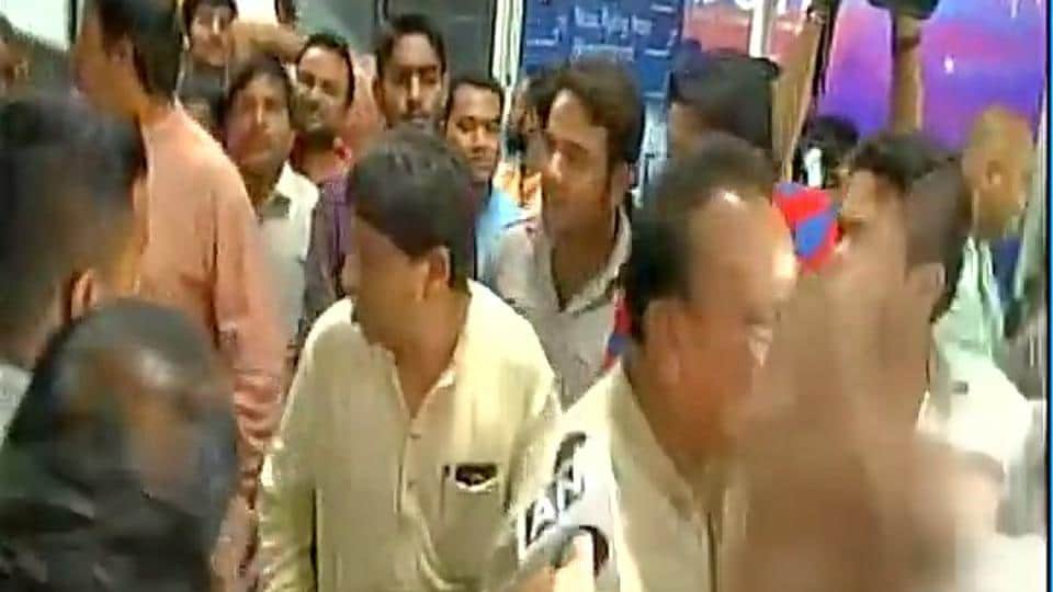 Gujarat Congress MLAs leave for Bengaluru after a string of defections.