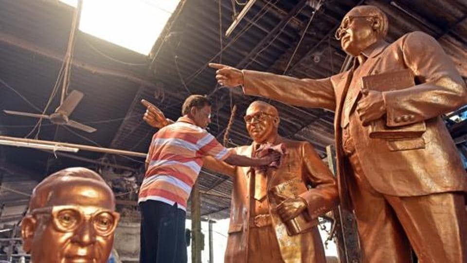 Unrest prevails in Andhra Pradesh's Garagaparru village over the installation of a statue of Dr Babasaheb Ambedkar.