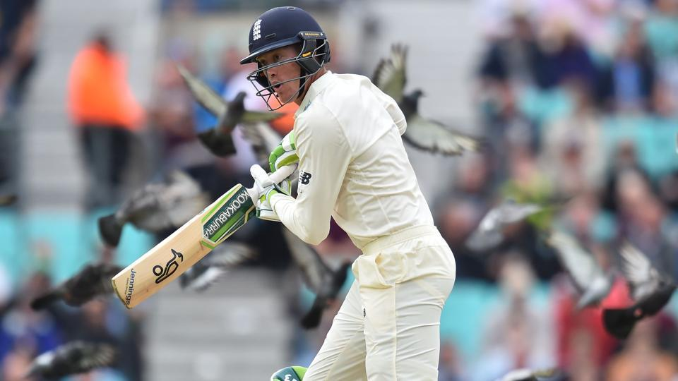Keaton Jennings in action for England in the second innings of The Oval Test against South Africa. Follow full cricket score of England vs South Africa, 3rd Test, Day 3 here