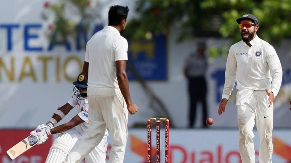 India hammered Sri Lanka by 304 runs to take a 1-0 lead in the 3 match Test series. Get full cricket score of India vs Sri Lanka, 1st Test, Day 4, here.