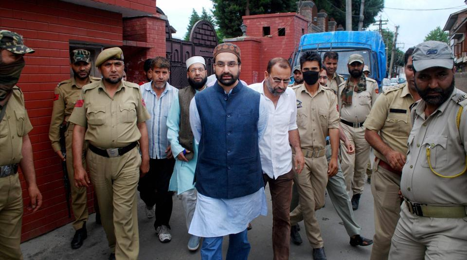Mirwaiz Umar Farooq had called a press conference at his house in in Nageen area of Srinagar at 3pm, but journalists who reached the venue found restrictions on pedestrian and vehicular movement around the house.