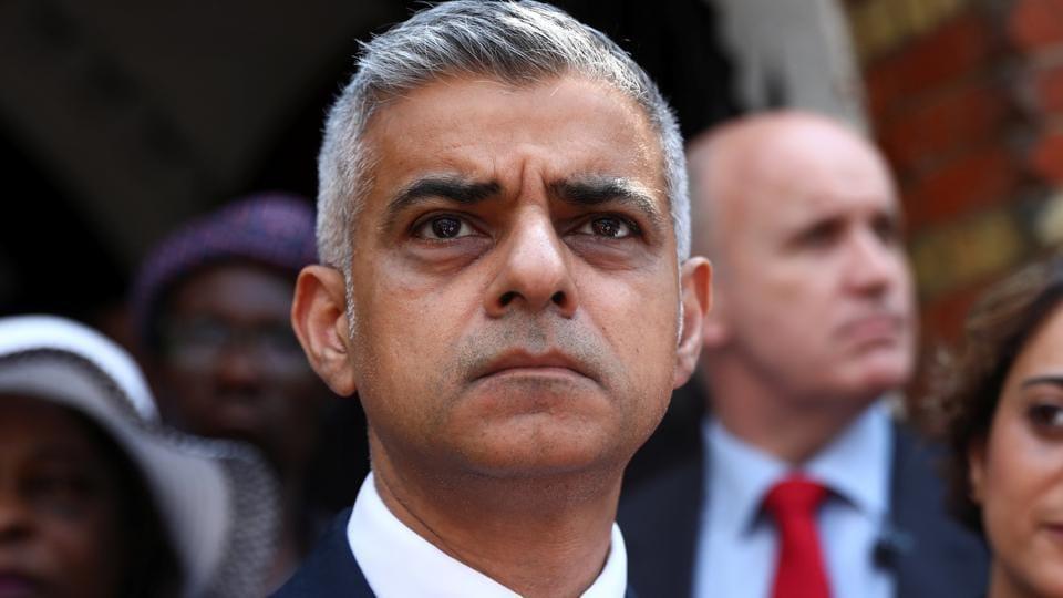 File photo of London mayor Sadiq Khan.