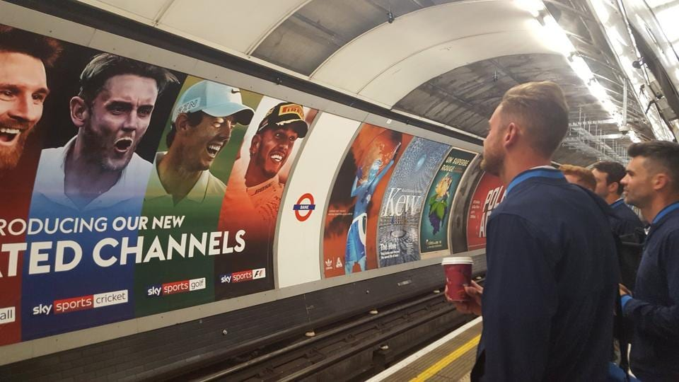 Stuart Broad and James Anderson at the station to reach The Oval for England vs South Africa match.