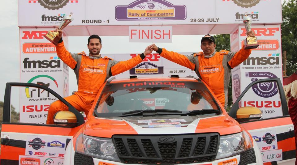 Gaurav Gill and Musa Sherif won Round 1 of the MRF FMSCI Indian National Rally Championship on Sunday.