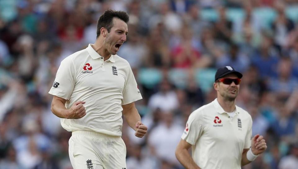 Toby Roland-Jones celebrates the wicket of Hashim Amla on the fourth day of the third Test match between England and South Africa at The Oval. Follow full cricket score of England vs South Africa, 3rd Test, Day 4 here