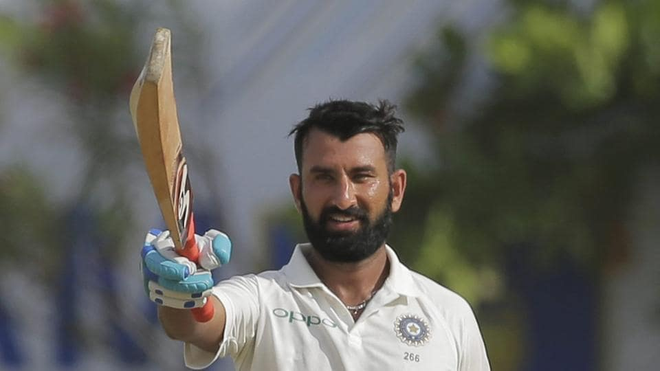 Cheteshwar Pujara's 153 helped India beat Sri Lanka by 304 runs in the opening Test at Galle.