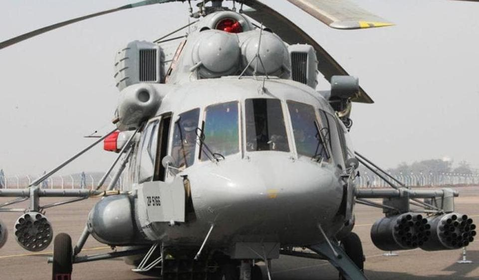 File photograph of an Mi-17 V5 Combat helicopter, which as night vision technology, all-weather radar, a new PKV-8 autopilot system and a KNEI-8 avionics suite.