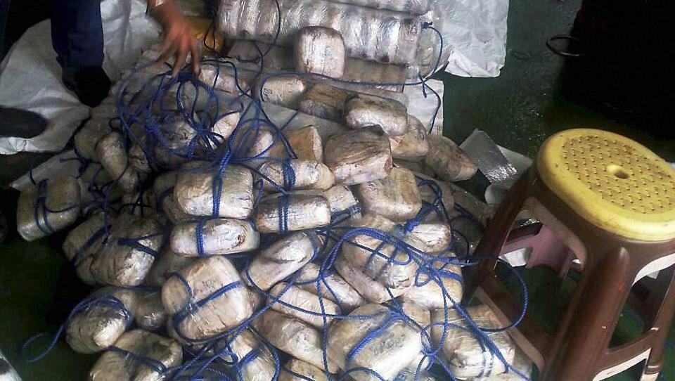 The Indian Coast Guard seized approximately 1,500 kg of heroin after a merchant vessel was intercepted off the coast of Gujarat on Sunday.
