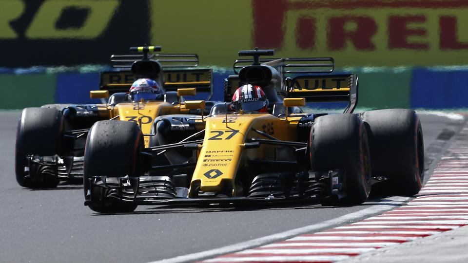 Renault's Nico Hulkenberg of Germany had an altercation with Haas driver Kevin Magnussen.