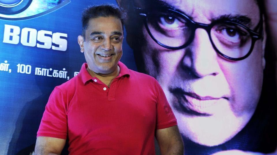 Kamal Haasan during the launch of Tamil version of Bigg Boss in Chennai.