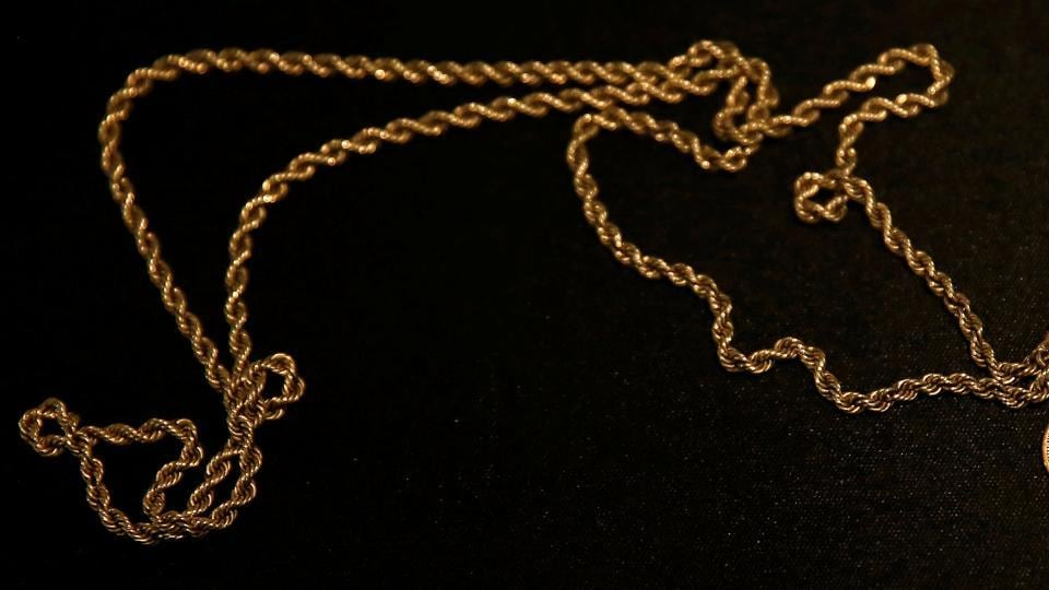 A man lost a gold chain in a train but it was retrieved by railways officials.