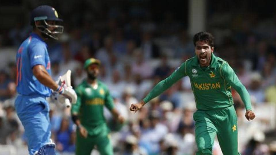 Mohammad Amir picked up the wickets of Virat Kohli, Shikhar Dhawan and Rohit Sharma to dent India in the ICCChampions Trophy 2017 final.