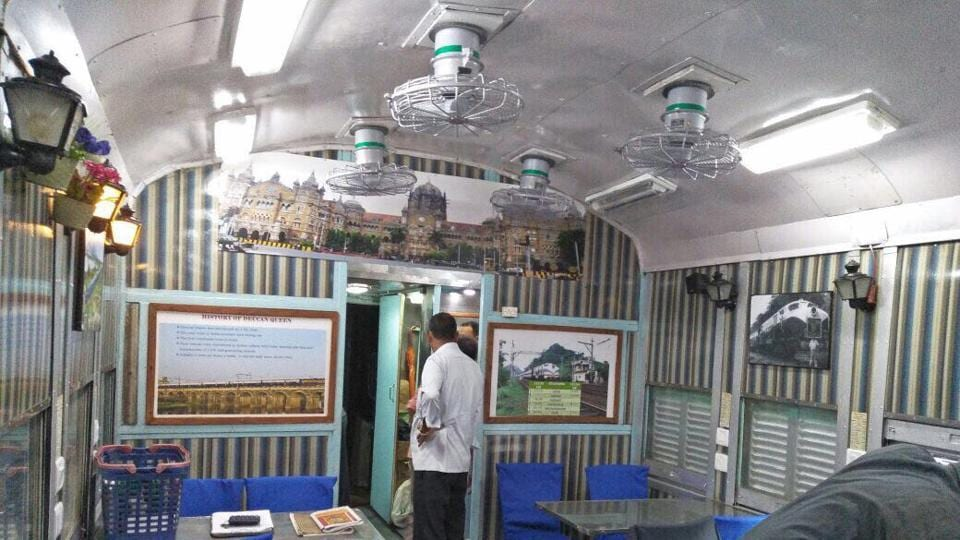 Pictures of the iconic Chhatrapati Shivaji Maharaj Terminus building adorn the interiors, and boards explaining history of the train have been put up at various places.