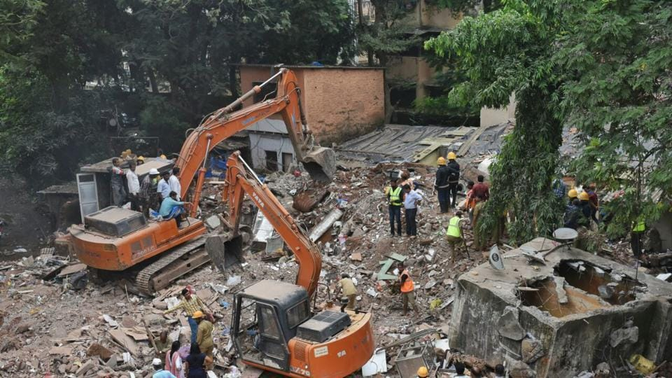 Mumbai news,ghatkopar building collapse,mumbai building collapse