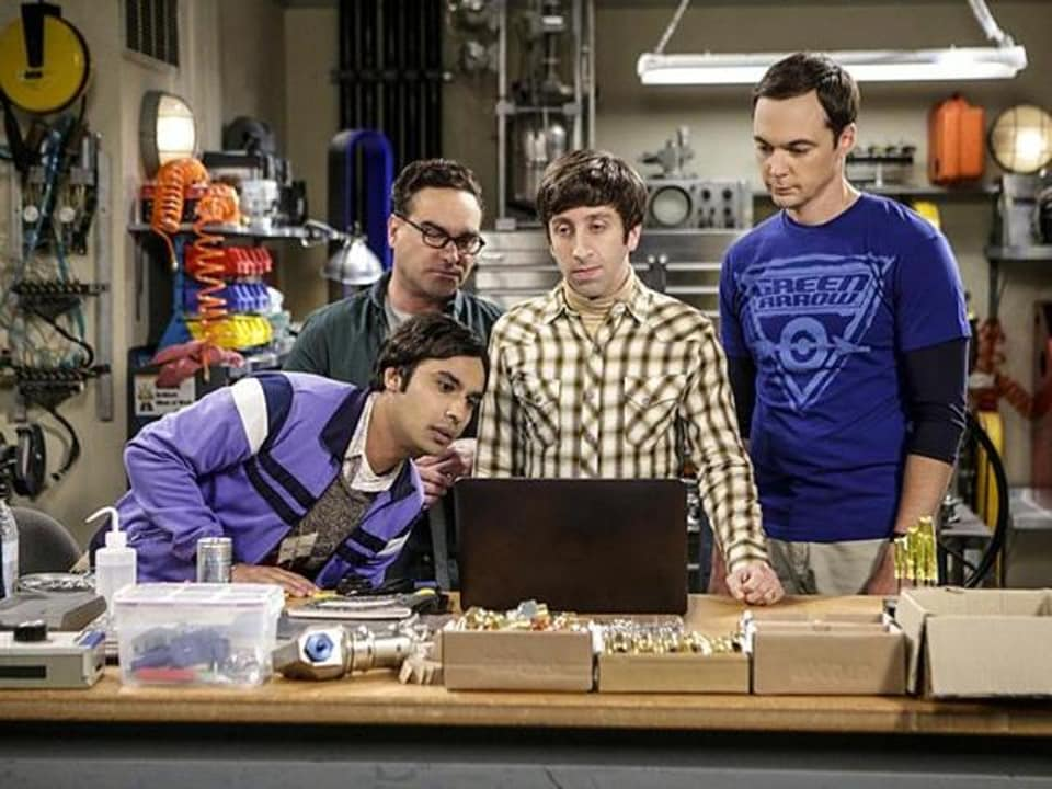 Kunal Nayyar, Johnny Galecki, Simon Helberg and Jim Parsons in The Big Bang Theory