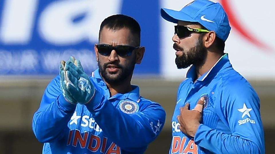 Image result for virat kohli with dhoni