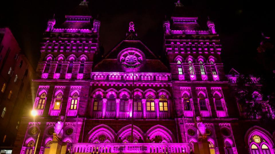 Today it is lit in 9 different lights for the anniversary at a & BMC building: Standing tall for 124 years | mumbai news | photos ... azcodes.com