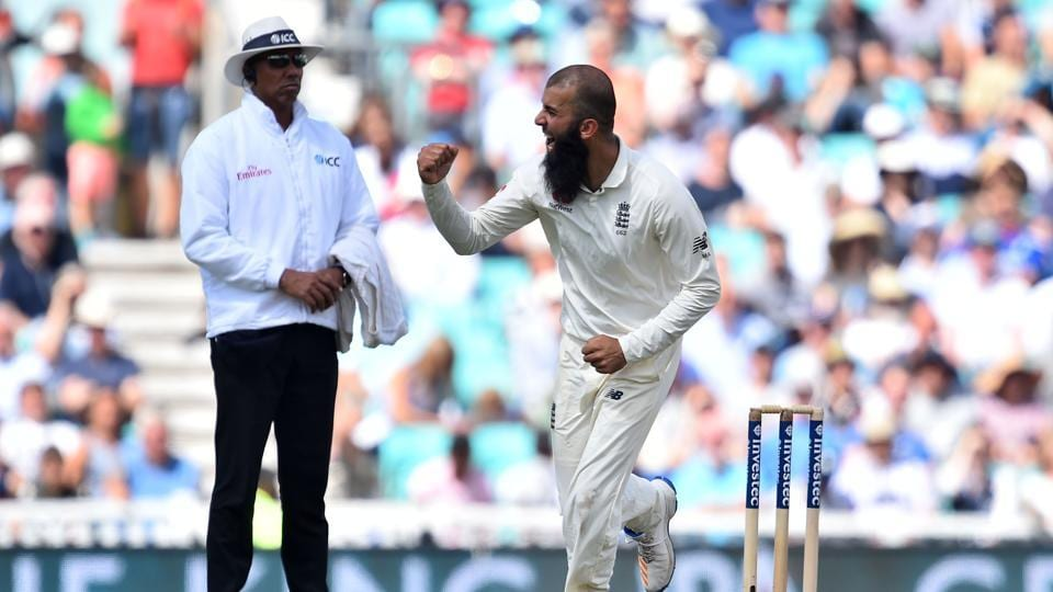 Moeen ALi sent back Dean Elgar, Kagiso Rabada and Morne Morkel in quick succession to take the hattrick. (AFP)