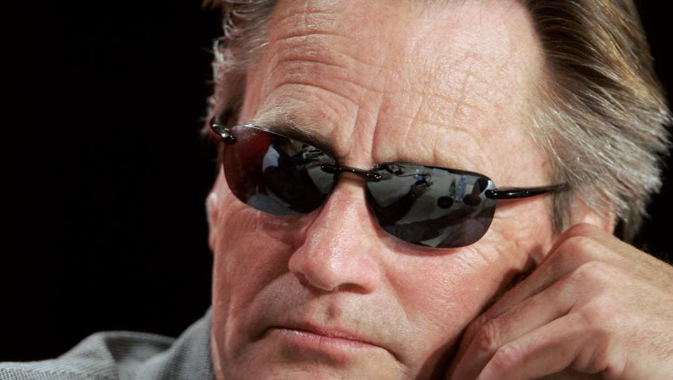 Sam Shepard listens to a question during a press conference for German director Wim Wenders' film Don't Come Knocking, at the 58th edition of the Cannes International Film Festival.