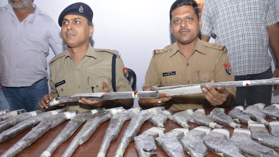 Officers said that the bigger weapons are generally sold for Rs20,000 apiece while the smaller ones, shaped like pistols, are sold for Rs10,000 each.