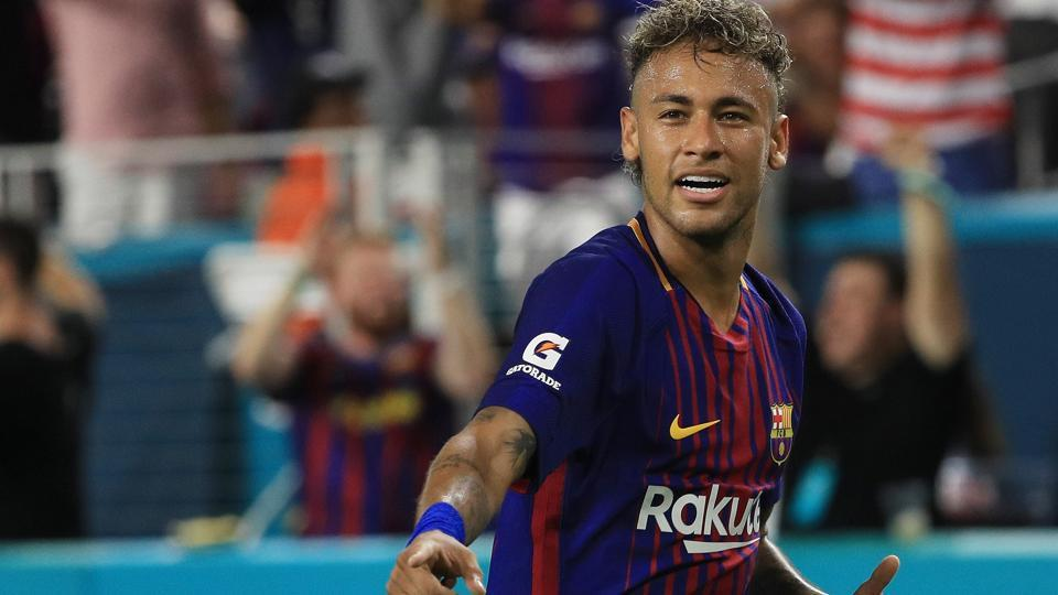 Neymar of FCBarcelona reacts in the second half against Real Madrid during their International Champions Cup 2017 match.