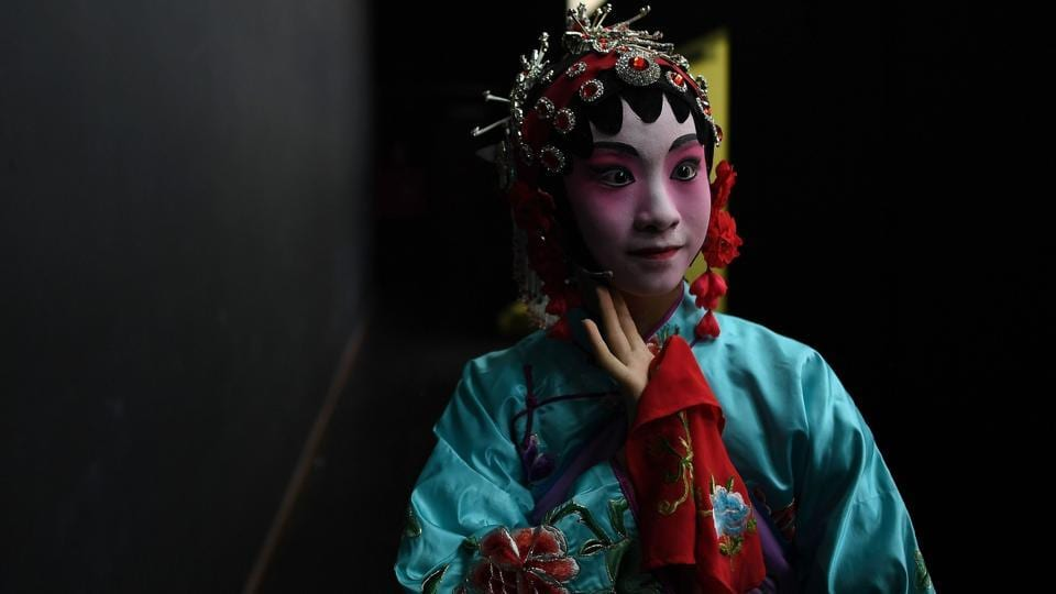 In the 1940s and 1950s, its popularity would briefly resurge in the form of Cantonese opera films.  (MANAN VATSYAYANA / AFP)