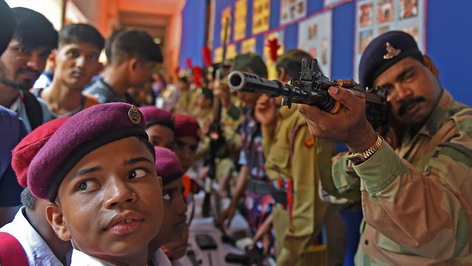 All eyes on target. (Satyabrata Tripathy/HT Photo)
