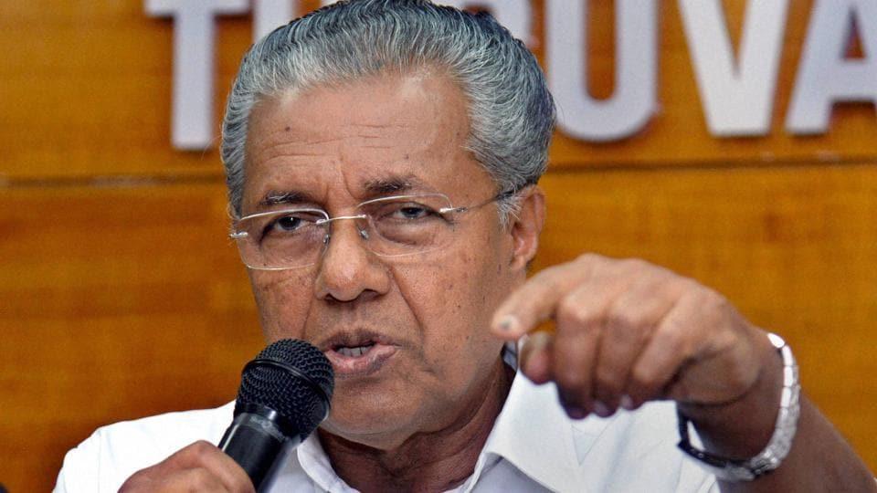 Kerala CM Pinarayi Vijayan addresses the media in Thiruvananthapuram.