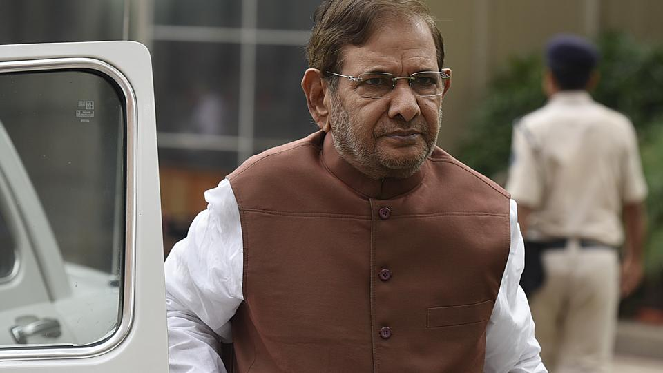 JD(U) leader Sharad Yadav during the monsoon session of Parliament in New Delhi.