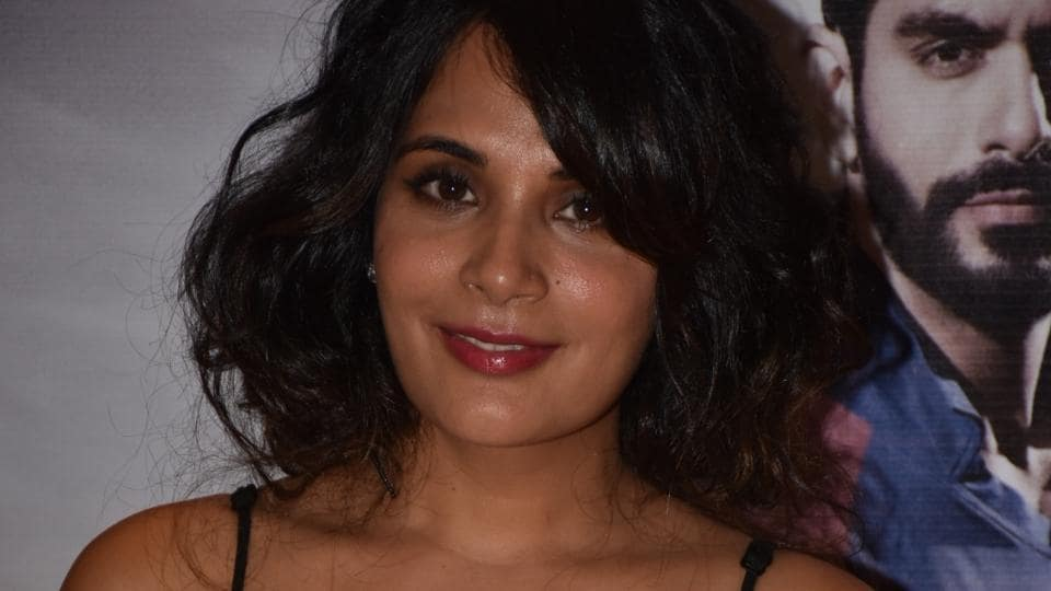 Richa Chadha at the success party of Inside Edge.