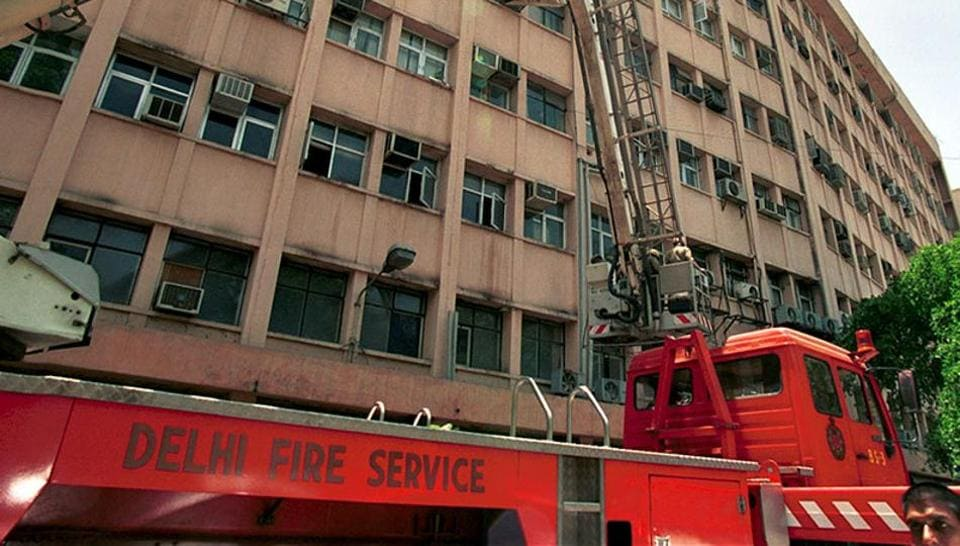 Delhi news,Delhi fire,Shastri Bhawan