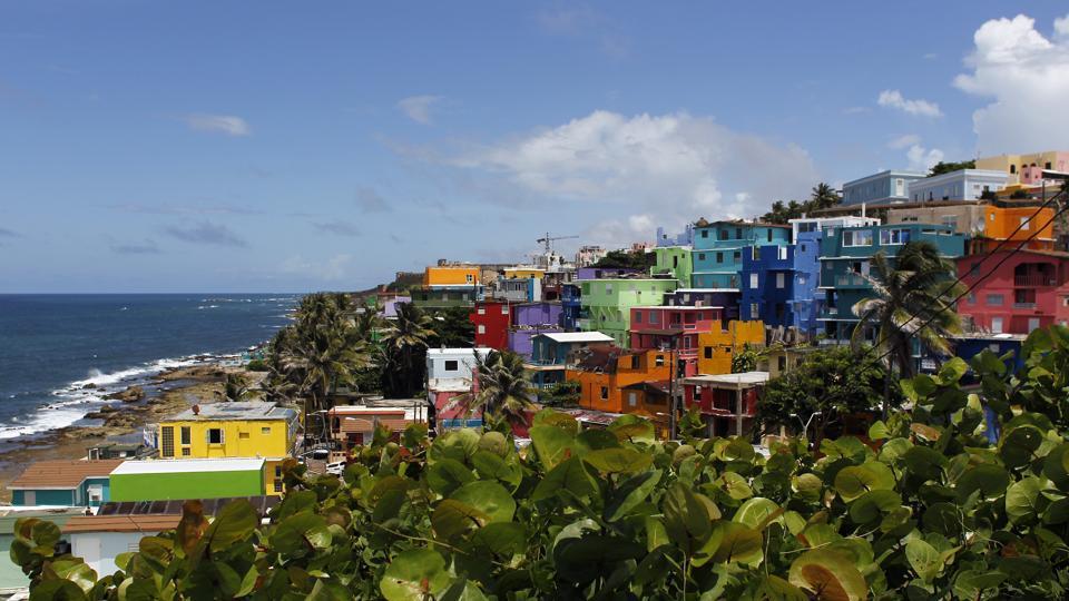 A view of the neighbourhood of La Perla.