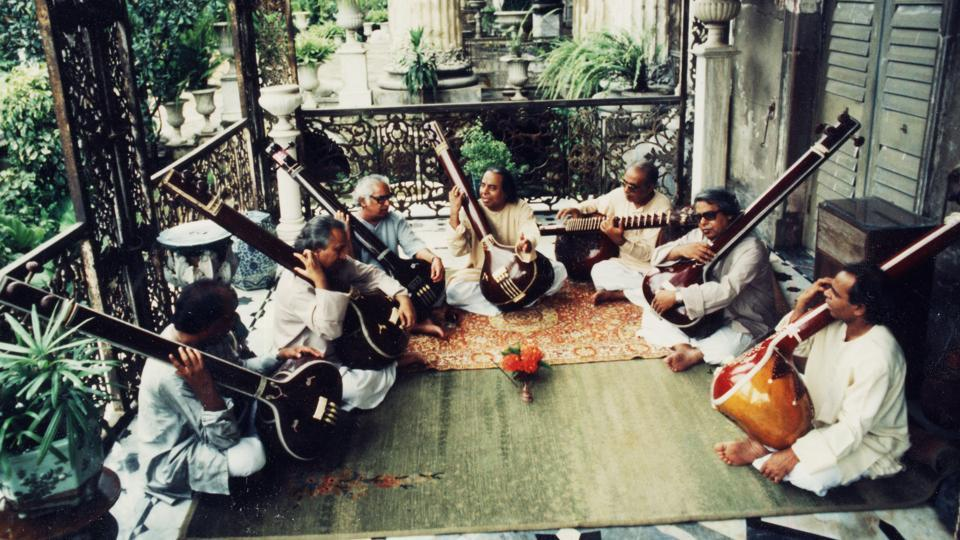 The seven Dagar brother (Sayeeduddin is on the extreme right).