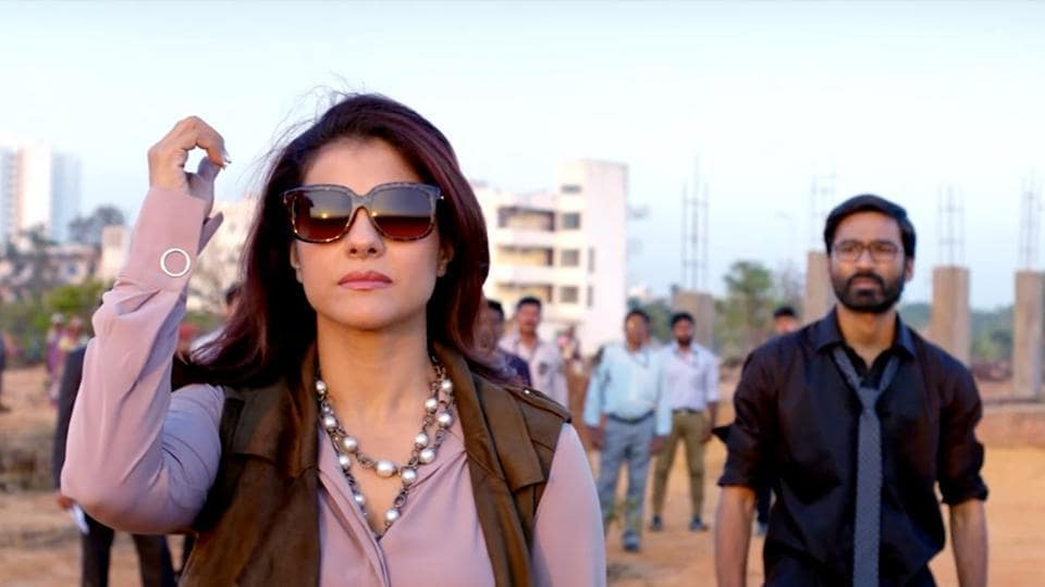 Kajol and Dhanush in a still from the film.