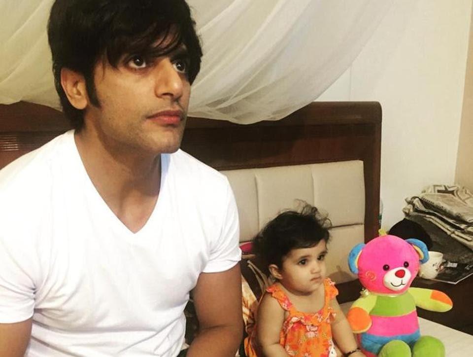 Karanvir Bohra with his daughter.