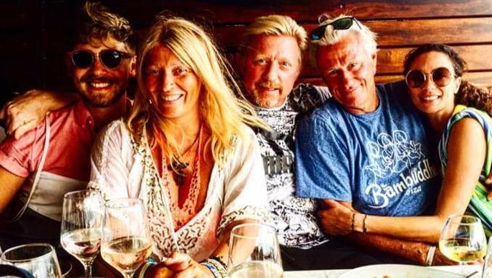 Bjorn Borg and Boris Becker during their vacation in Ibiza.