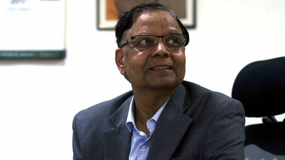 Arvind Panagariya, who resigned as NITI Aayog Vice-Chairman, at his office in New Delhi, on Tuesday.