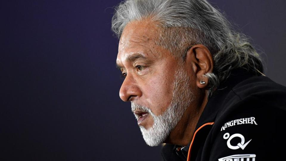 Sahara Force India's co-owner Vijay Mallya is seen during a press conference at Silverstone motor racing circuit in Silverstone, central England on July 14, 2017 ahead of the British Formula One Grand Prix.