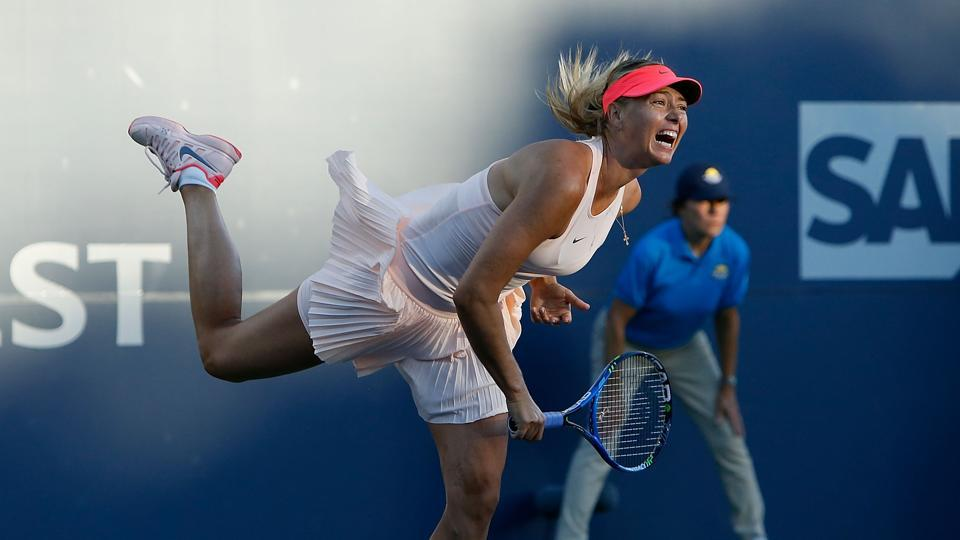 Sharapova wins in first match back on tour at Stanford